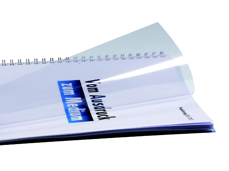 100 Deckblätter Klassik weiß DIN A4; Deckblatt Einbanddeckel Rückenkarton