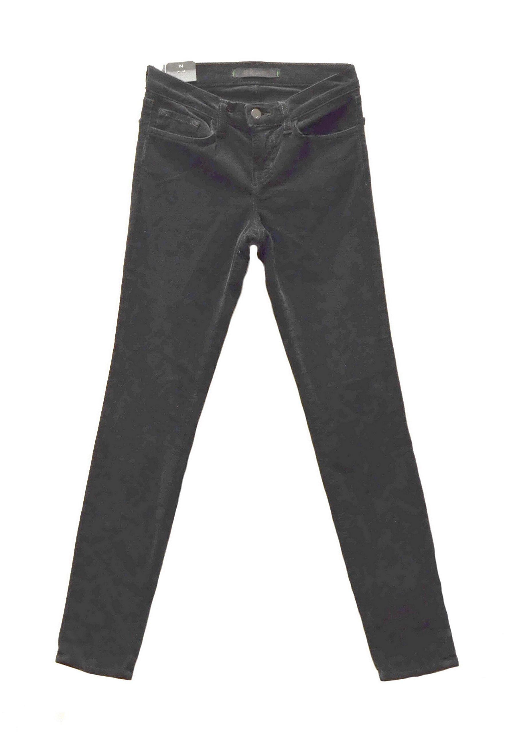 J BRAND Womens Stretch Fit Fine Corduroy Skinny Jeans Pants Sz 24 Black 240574DH