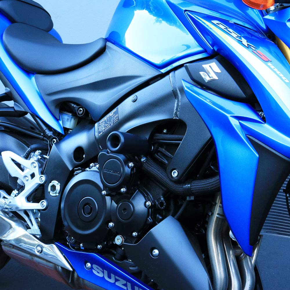 755-5639 Swing Arm Spools and Bar Ends Shogun 2016 2017 2018 2019 Suzuki GSX-S1000F GSX S1000F 1000 Black Complete No Cut Frame Slider Kit Includes No Cut Frame Sliders MADE IN THE USA