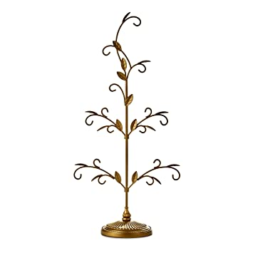 Hallmark Keepsake 2017 Gold Miniature Christmas Ornament Display Tree