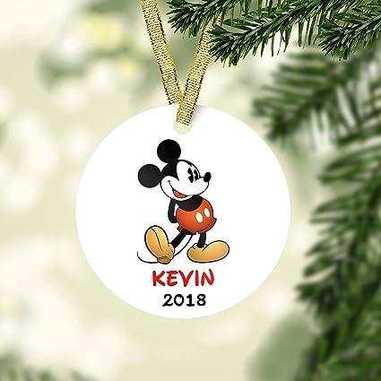 Mickey mouse christmas ornament-Disney Ornament-Personalized Christmas  ornament kids-unique ornament- - Amazon.com: Mickey Mouse Christmas Ornament-Disney Ornament