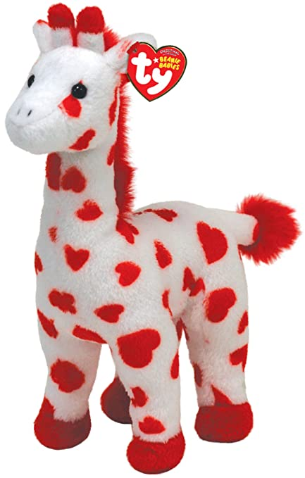 ff1f731bcfcbf Amazon.com  TY Beanie Baby Smoothie Red and White Giraffe  Toys   Games