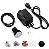 Garbage Disposal Air Switch Kit, Sink Top Waste Disposer Short Brushed Stainless Steel On/Off Push Button with Aluminum Alloy