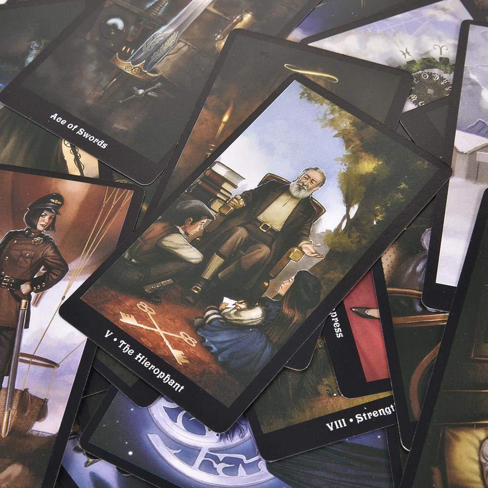 Bestes Familien-Party-Spiel F/ür Sie Und Ihre Freunde. 78PCS Die Steampunk Tarot-Karten Gr/ö/ße 10 7.5 2.5cm Weight 120g