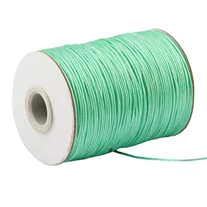 Yzsfirm 1mm 175 Yards Jewelry Making Beading and Crafting Macrame Black Waxed Cord Thread for Braided Bracelet DIY Making