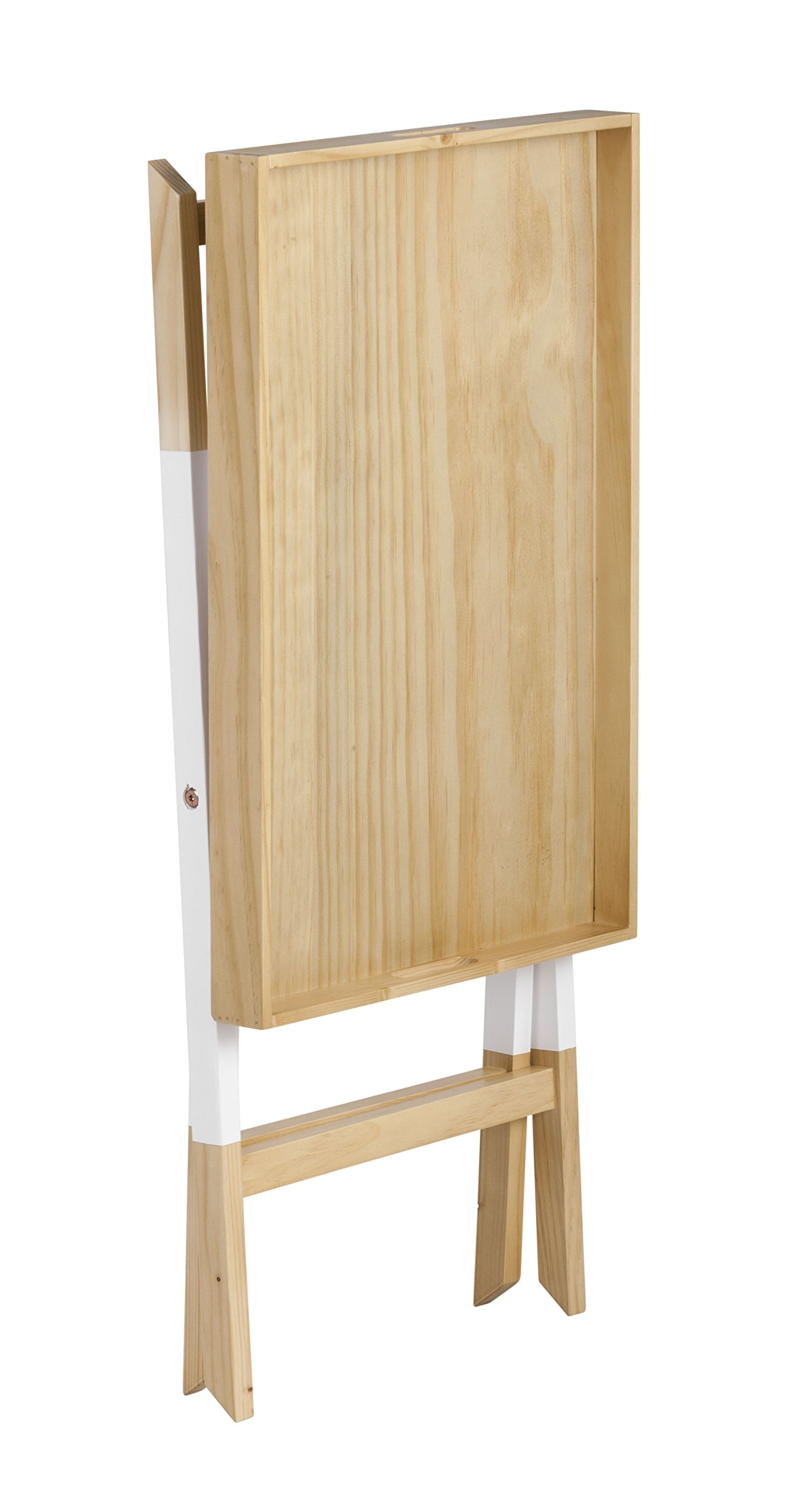 Universal Experts FUST10026A Remus Folding Tray Table, Oak/White by Universal Experts (Image #6)