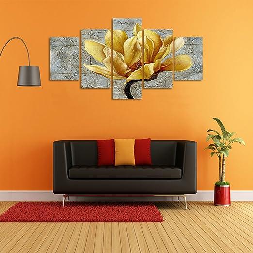 Crmoart 5 Panneaux Moderne Toile Peinture Mur Art L Image
