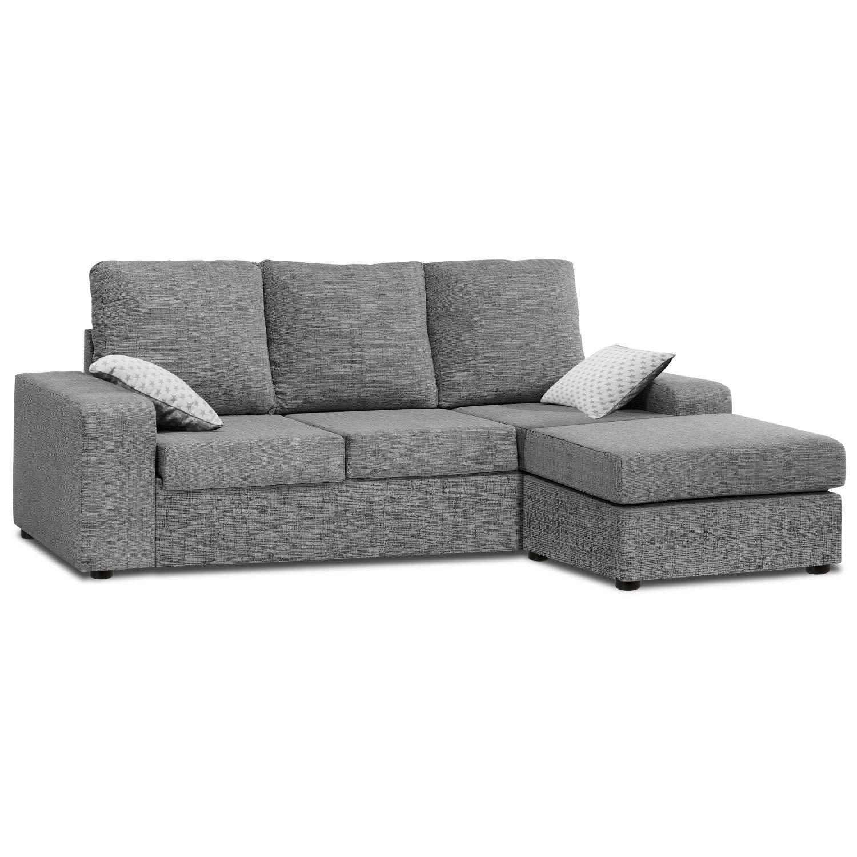 Sofa med chaiselong gris