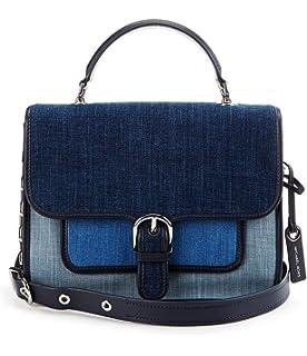 47b69b11c6ad Amazon.com: Michael Kors Cooper Small Crossbody Handbag in Indigo ...