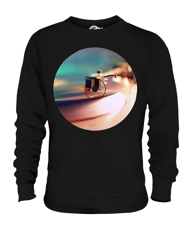 Candymix - Record Player Fashion Print - Unisex Sweatshirt Mens Ladies  Sweater Jumper Top  Amazon.co.uk  Clothing d3e8716c85