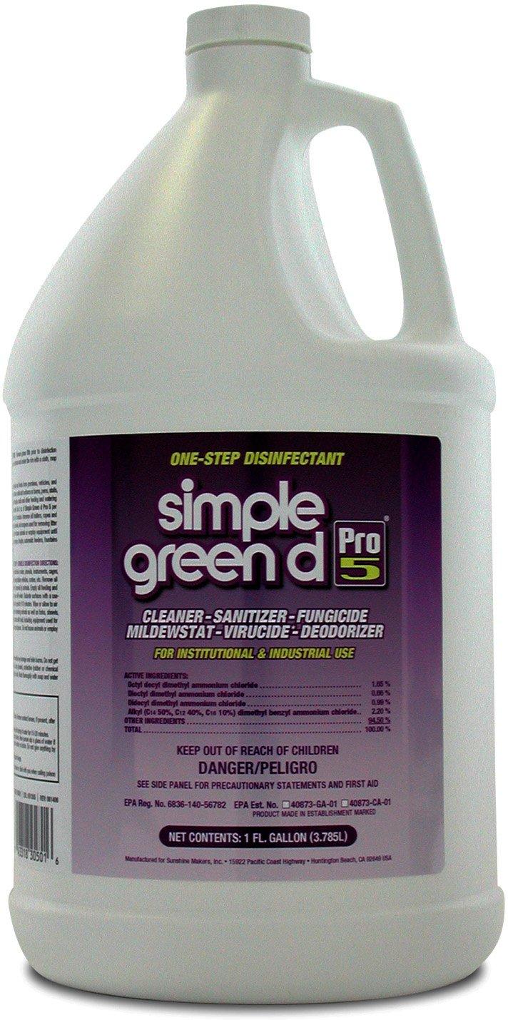 Simple Green 30501 d Pro 5 Disinfectant, 1 gal Bottle