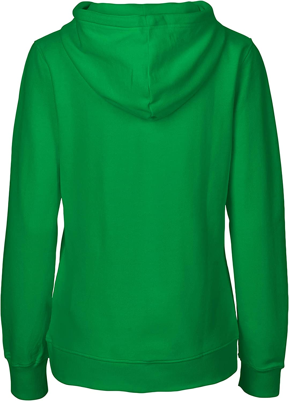 Spirit of Isis Green Cat Damen Kapuzensweatshirt, 100% Bio-Baumwolle. Fairtrade, Oeko-Tex und Ecolabel Zertifiziert Grün