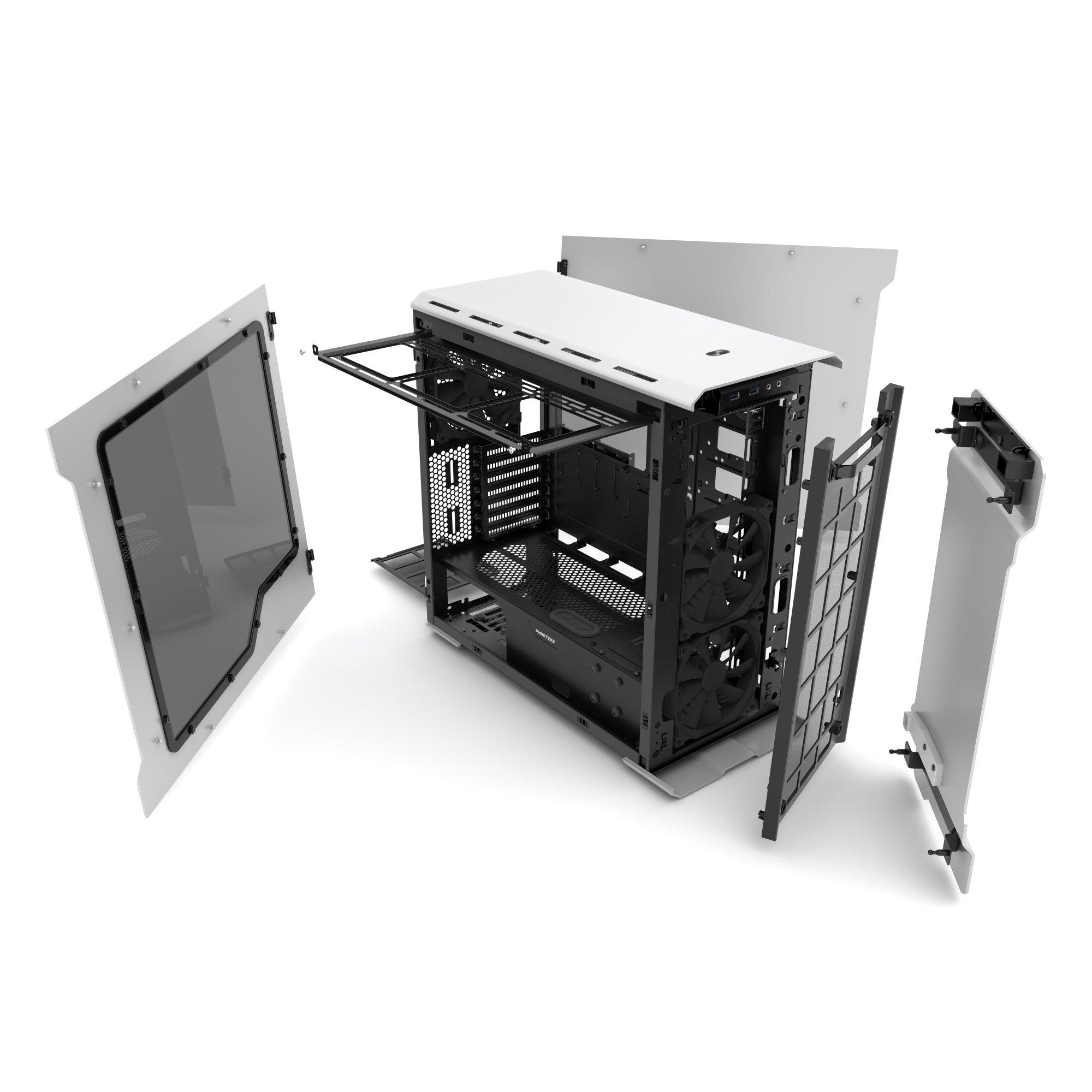 Phanteks Enthoo Evolv ATX Alum/Steel Tower Computer Case, Window (PH-ES515E_GS) Galaxy Silver by Phanteks (Image #3)