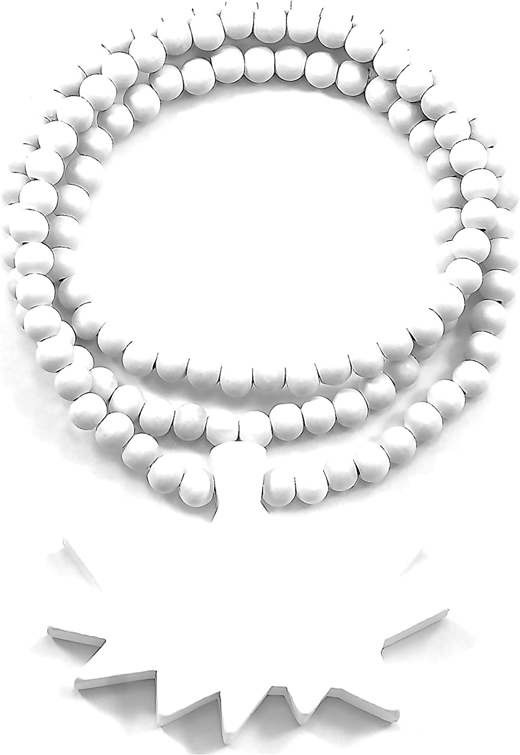 GWOOD POW Good Wood Pendant Replica 36 Inch Necklace White