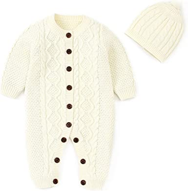 Simplee kids Baby Sweater Cable-Knit Baby Cardigan Coat for Autumn Fall 3-24 Months