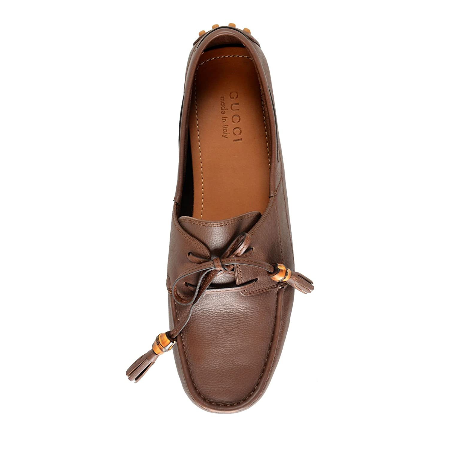 9087dd105 Amazon.com: Gucci Men's Brown Leather Moccasins Slip On Driving Shoes Sz US  11.5 IT 9.5 EU 44.5: Shoes