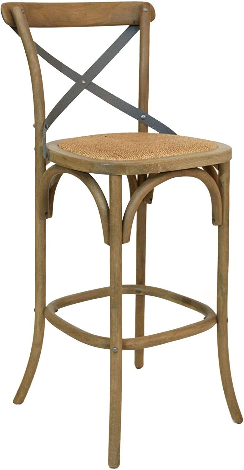 Bentwood solid oak and metal barstool - a gorgeous coastal look for casual dining