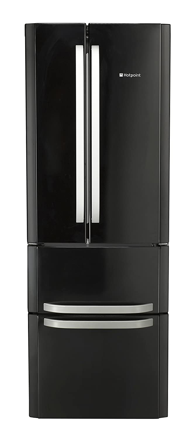 hotpoint ffu4dk independent 402 l a black side by side refrigerator rh amazon co uk Hotpoint Refrigerator Problems Solutions Hotpoint Refrigerator Parts