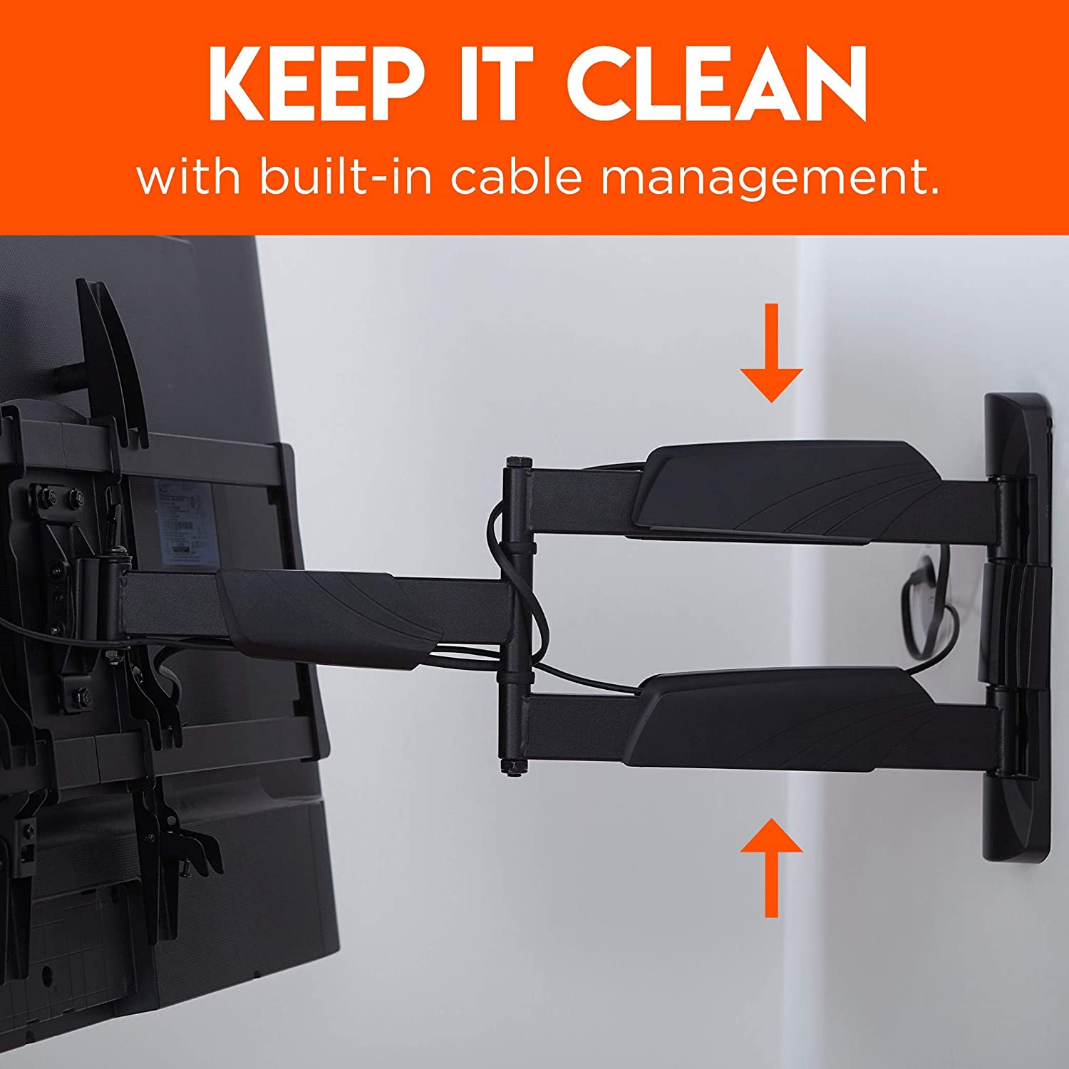 ECHOGEAR Corner TV Wall Mount for TVs Up to 65