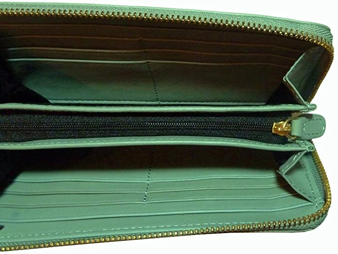 Biba Green Ruby Zip - Monedero de Piel Verde Verde: Amazon ...