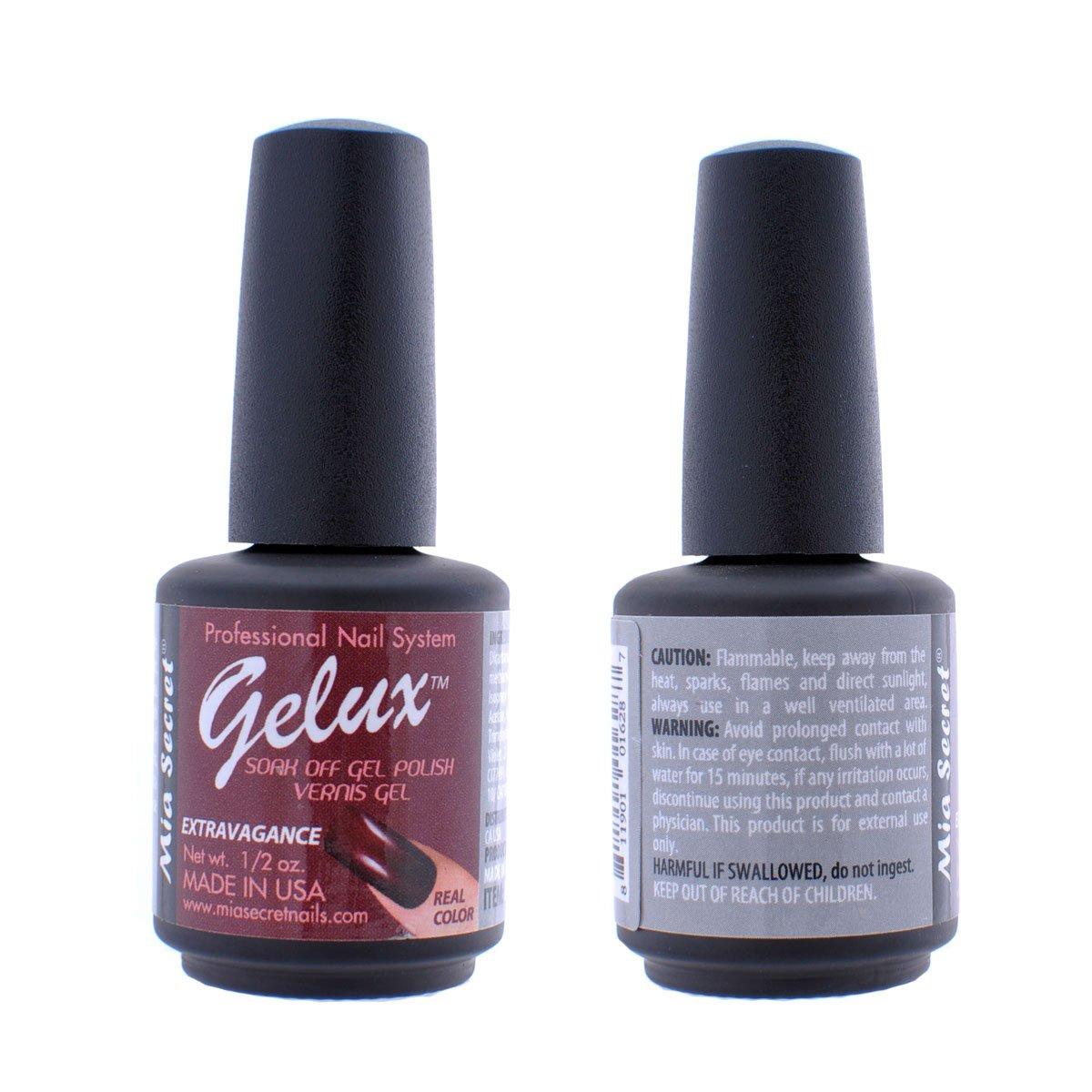Amazon.com : Mia Secret Soak Off UV/LED Gelux Gel Nail Polish ...