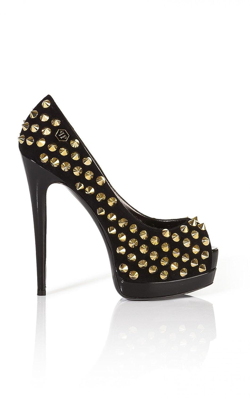 Philipp Plein Damen Schuhe Schuhe Schuhe Weapons Peeptoe schwarz Gr. 36 147e23