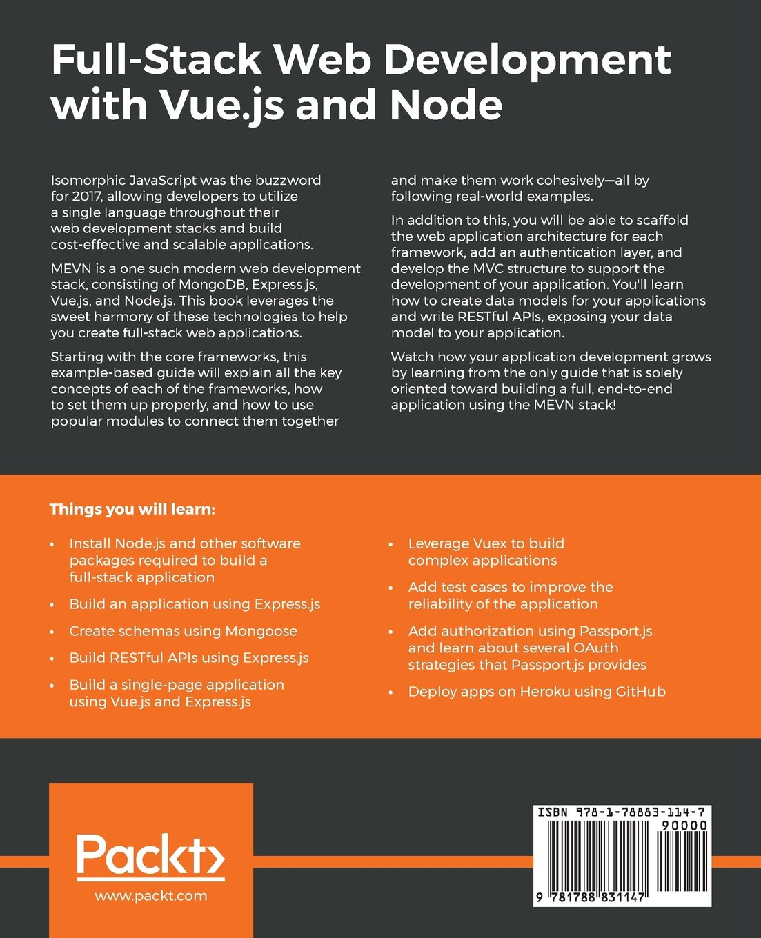 Full-Stack Web Development with Vue js and Node: Build