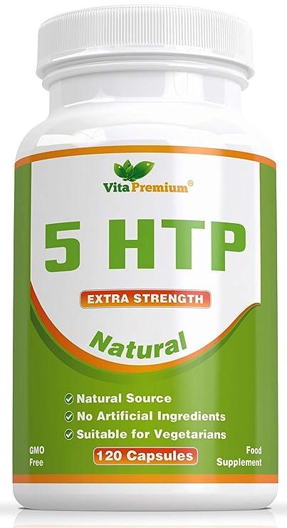 5-HTP Natural de 100 mg, 120 Cápsulas Vegetarianas con Suministro ...