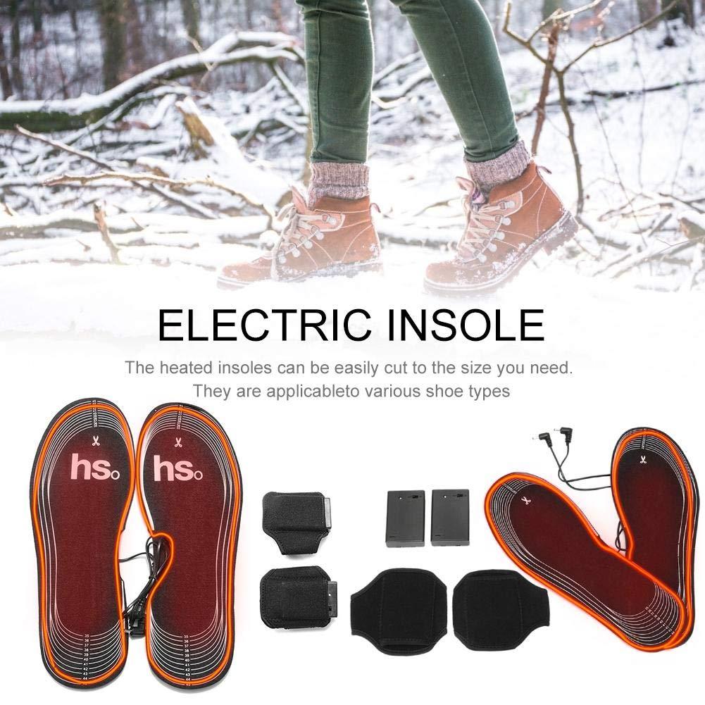Recargables Bater/ía Plantillas de Arranque Calentador de pies para Mujeres Hombres Tama/ño se Puede Recortar Dedeka Climatizada Plantillas Suelas calentables Calentadores de Pies de 4.5V