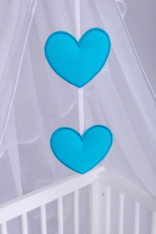 Chiffonhimmel Amilian/® Chiffonhimmel Himmel Betthimmel Stern//Herzen Blau
