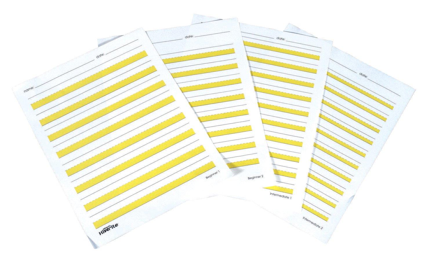Abilitations Hi-Write Intermediate Paper, Level 2, Pack of 100-027323 by Abilitations