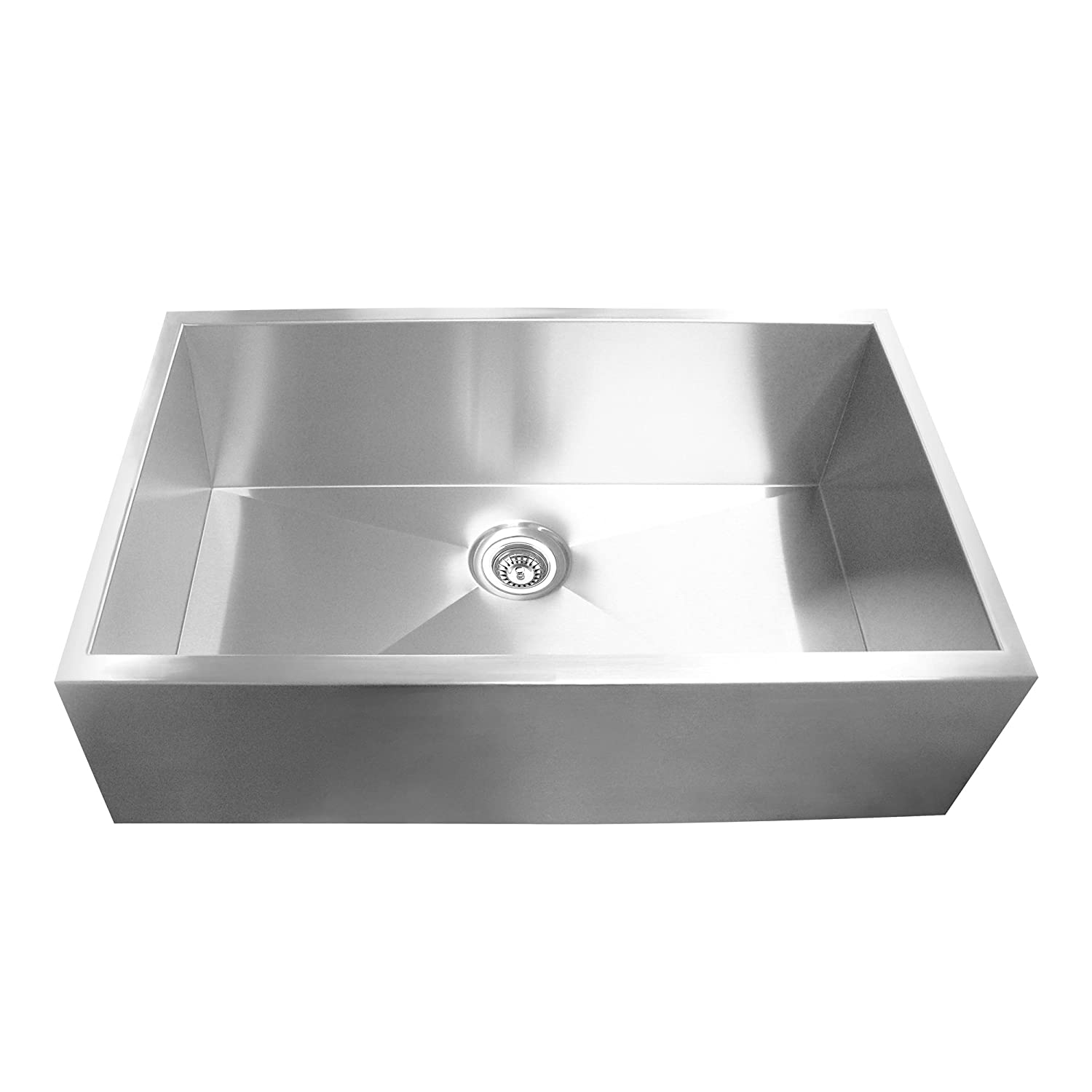 yosemite home decor mags3320sap 16gauge stainless steel farmhouse kitchen sink single bowl sinks amazoncom - Stainless Steel Farm Sink