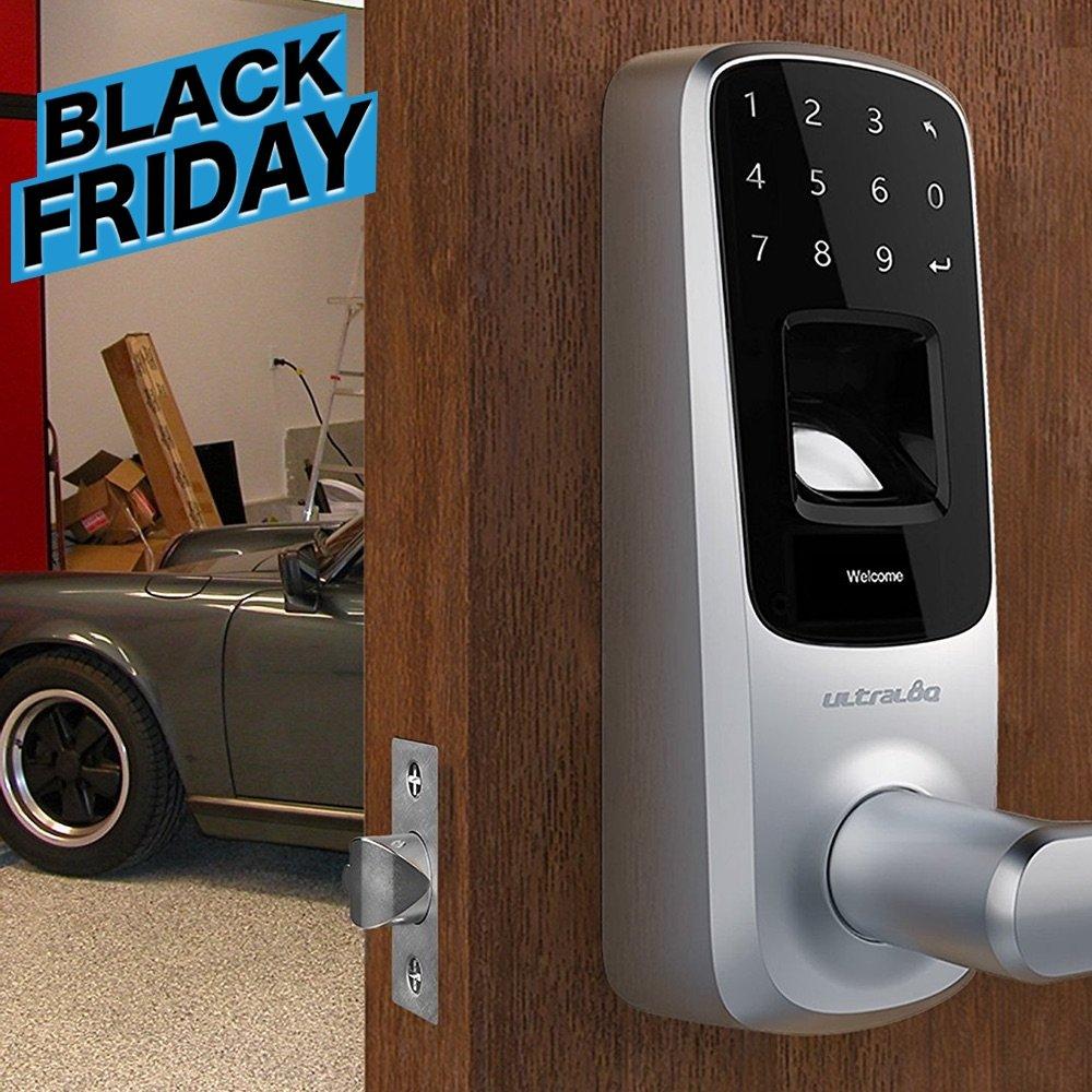 Ultraloq UL3 Fingerprint and Touchscreen Keyless Smart Lever Door Lock (Satin Nickel)