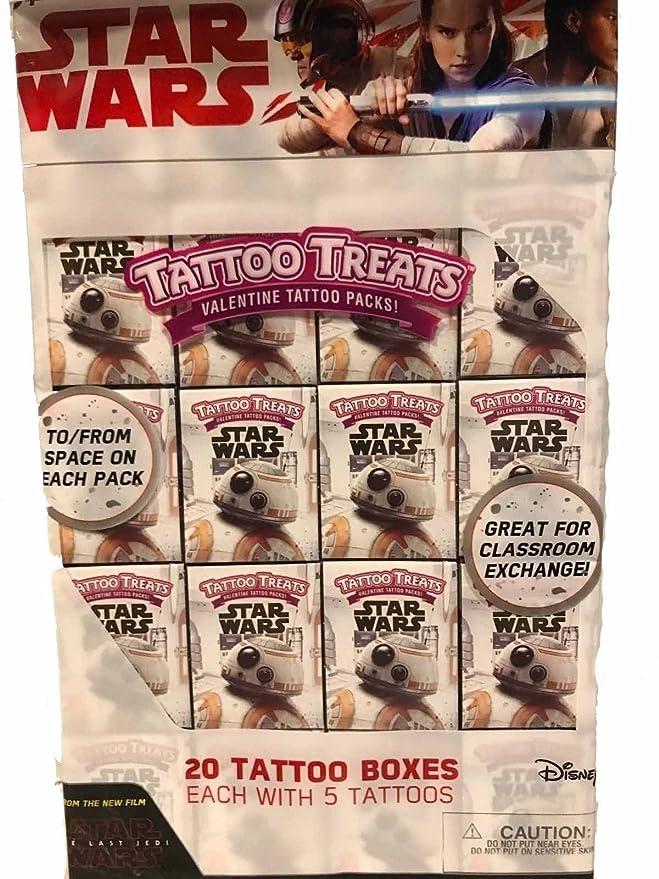 Star Wars The Last Jedi Tattoo Treats paquetes de tatuajes de San ...