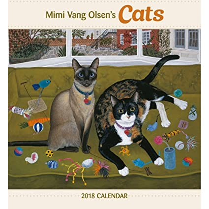 Mimi Vang Olsen de gatos 2018 calendario de pared