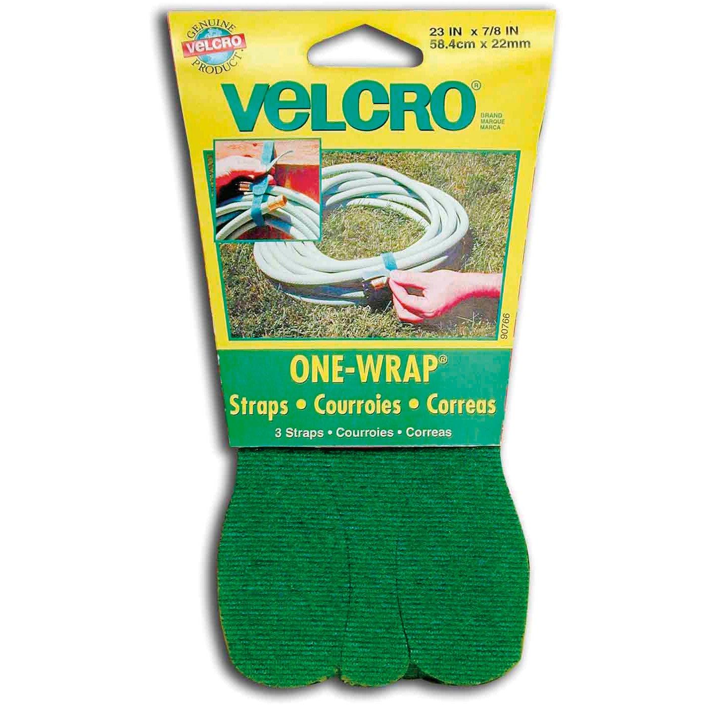 VELCRO Brand - 23 x 7/8 ONE-WRAP Straps, 3 Ct. - Green VELCRO® Brand 90766ACS
