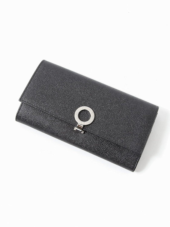 (ブルガリ) BVLGARI グレインレザー ロゴ ブルー デザイン 長財布 [BLG30414S8] [並行輸入品] B079VKMNQWブラック