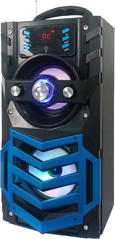 Blue QFX BT-170BL Portable Bluetooth Speaker with FM Radio
