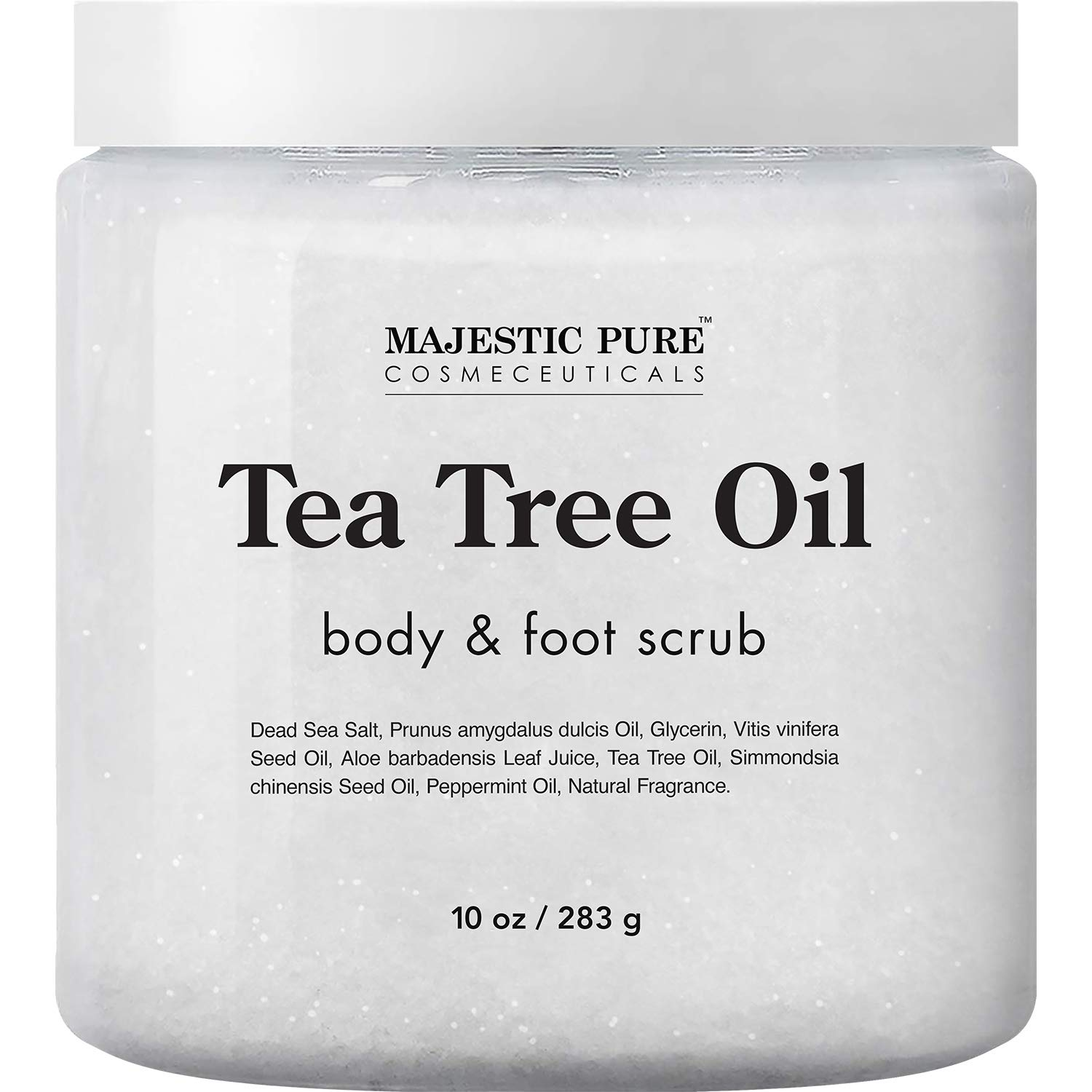 Amazon Com Majestic Pure Tea Tree Body And Foot Scrub Strong