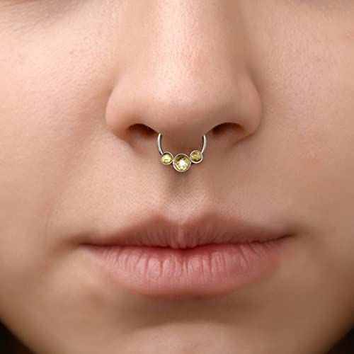 Amazon Com Cz Septum Ring Septum Piercing Daith Earring 14