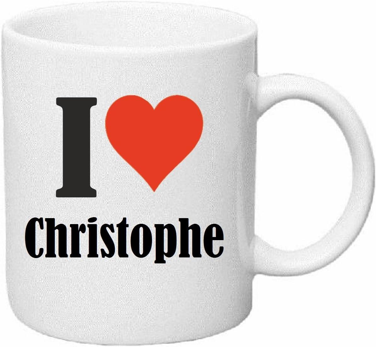 taza para café I Love Christophe Cerámica Altura 9.5 cm diámetro ...