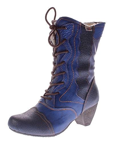 TMA Damen Winter Stiefel echt Leder Schuhe gef ttert TMA 8991 Reptil Print 36 42