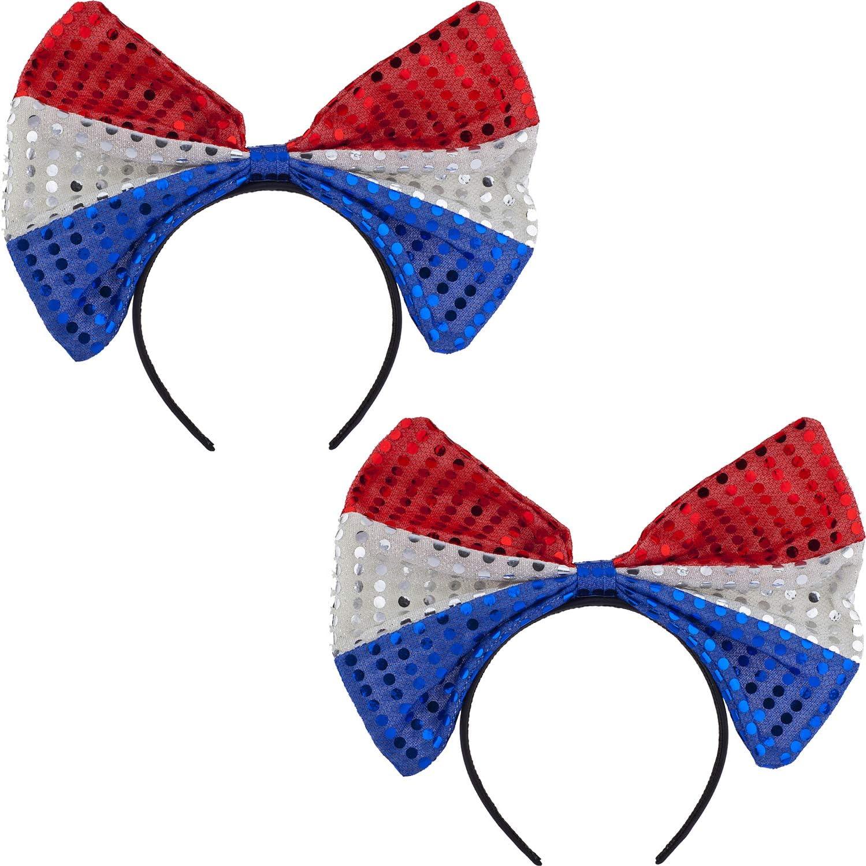 Flag Bow Headband 4th Of...