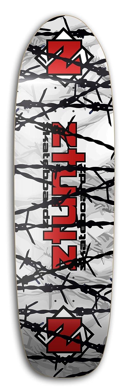 ztuntz skateboards No Trespassing Old School Skateboard Deck White//Gray//Red//Black 8.50 x 32-Inch//14.5-Inch WB