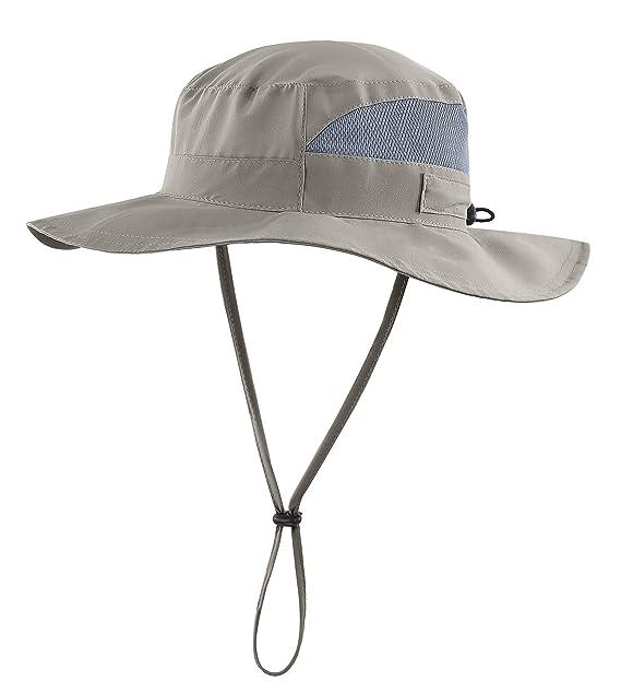 37bdec66c80 Connectyle Womens Outdoor Mesh Boonie Sun Hat Summer Wide Brim UV Protection  Fishing Hat Safari Cap