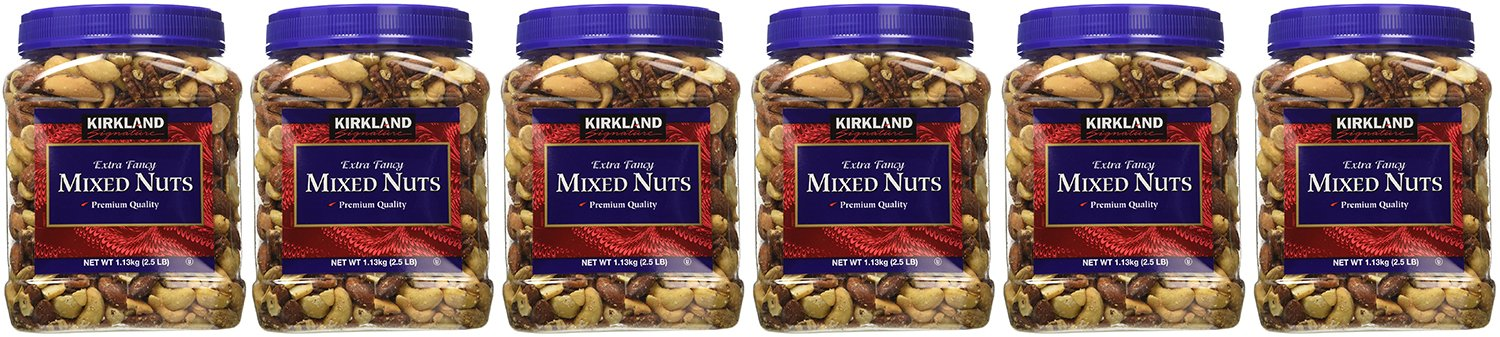 Kirkland gTIWj, Extra Fancy Mixed Nuts 40 Ounce (Pack of 6)