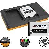2 Batterie + Caricabatteria doppio (USB) per EN-EL23/Nikon Coolpix B700, P600, P610, P900, S810c - Cavo USB micro incluso (2 batterie simultaneamente caricabili)