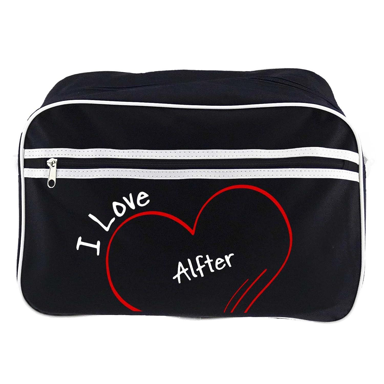 Modern I Love Alfter Retro Shoulder Bag Black