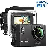 VICTSING WIFI Action Cam, Camera Action Sport Impermeabile, 2.0 Pollici di Schermo LCD, Full HD, Sott'acqua 30m, Waterproof Videocamera, con 2 Batterie, Nero