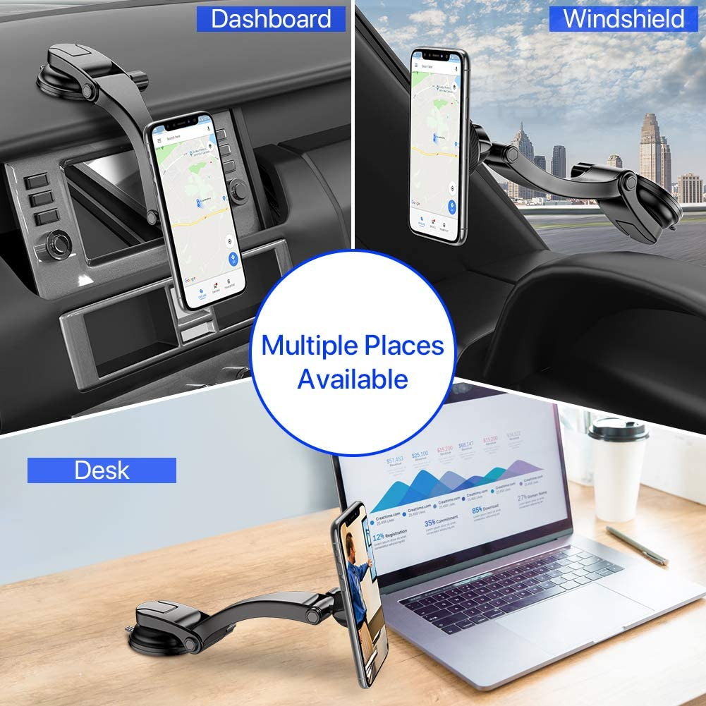 Magnetic Dashboard Windshield Car Phone Mount Miracase Universal Car Phone Holder Cradle Compatible with iPhone XR//XS Max//XS//X//8//8 Plus//7//7 Plus,Galaxy S10//S10 Plus//S9//Note 9 and More